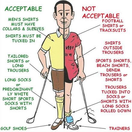 Golf kleidung damen etikette