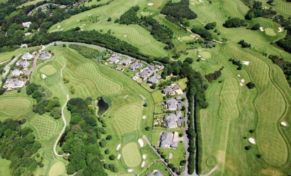 Golfplatz Luftbildaufnahme